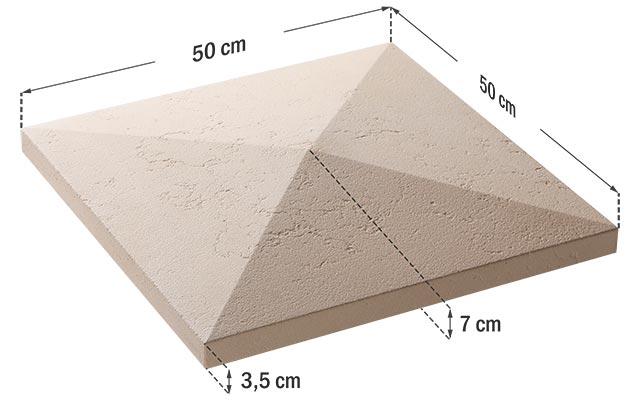 Capac stâlp gard Roma - 50x50x7 cm